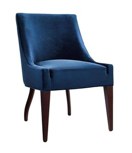 DOVER BLUE VELVET DINING CHAIR, SET OF 2