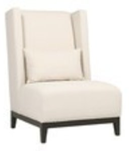 Josh Accent Chair- MAIN FAB: HUXLET CHALICE PILLOWS: OSCAR SMOKE