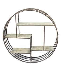 SAGEBROOK HOME Metal & Wood Wall Shelf, Brown