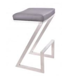ATLANTIS COUNTER STOOL GRAY