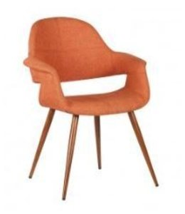 PHOEBE DINING CHAIR-ORANGE