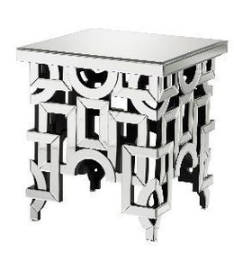 VOLOS MIRRORED SIDE TABLE 22 x 24.75 T