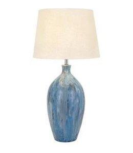 MARBLEIZED TERRACOTTA TABLE LAMP