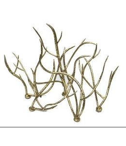METAL BRANCH TABLE SCULPTURE, GOLD