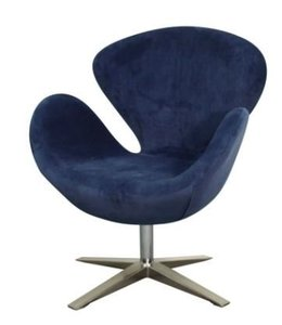 SWIVEL ACCENT CHAIR MIDNIGHT BLUE
