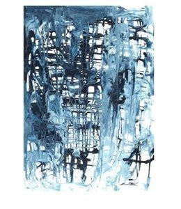 """BLUE BLOSSOMS I 30""""X43"""""""