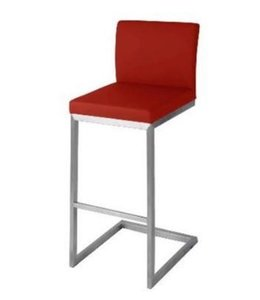 *Edward KD Counter Stool Stainless Steel Frame, Red