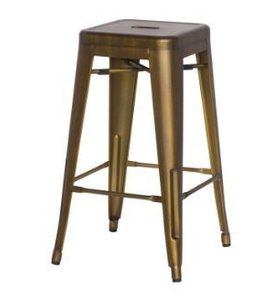 METROPOLIS METAL COUNTER STOOL, BRUSHED COPPER