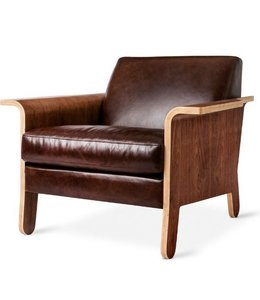 LODGE CHAIR CHESTNUT BROWN LEATHER