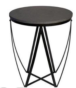 DIAGRAM SIDE TABLE STONE/METAL
