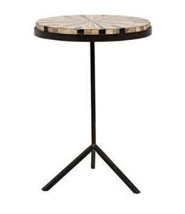 KATANA PETRIFIED WOOD SIDE TABLE
