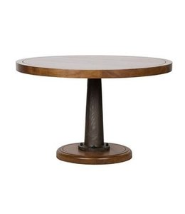 "YACHT DINING TABLE 48"" WALNUT/METAL"