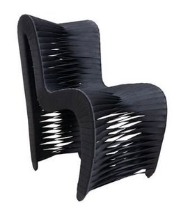 Seat Belt Outdoor Dining Chair Black