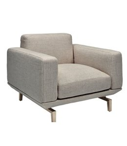 PENSE ACCENT CHAIR, LIGHT GRAY