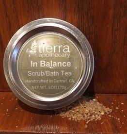 Tierra Apothecary Herbal Bath Scrub/Tea 8oz, In Balance