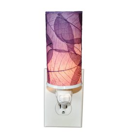 Eangee Cylinder Leaf Nightlight , Purple