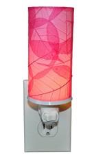 Eangee Cylinder Leaf Nightlight , Pink