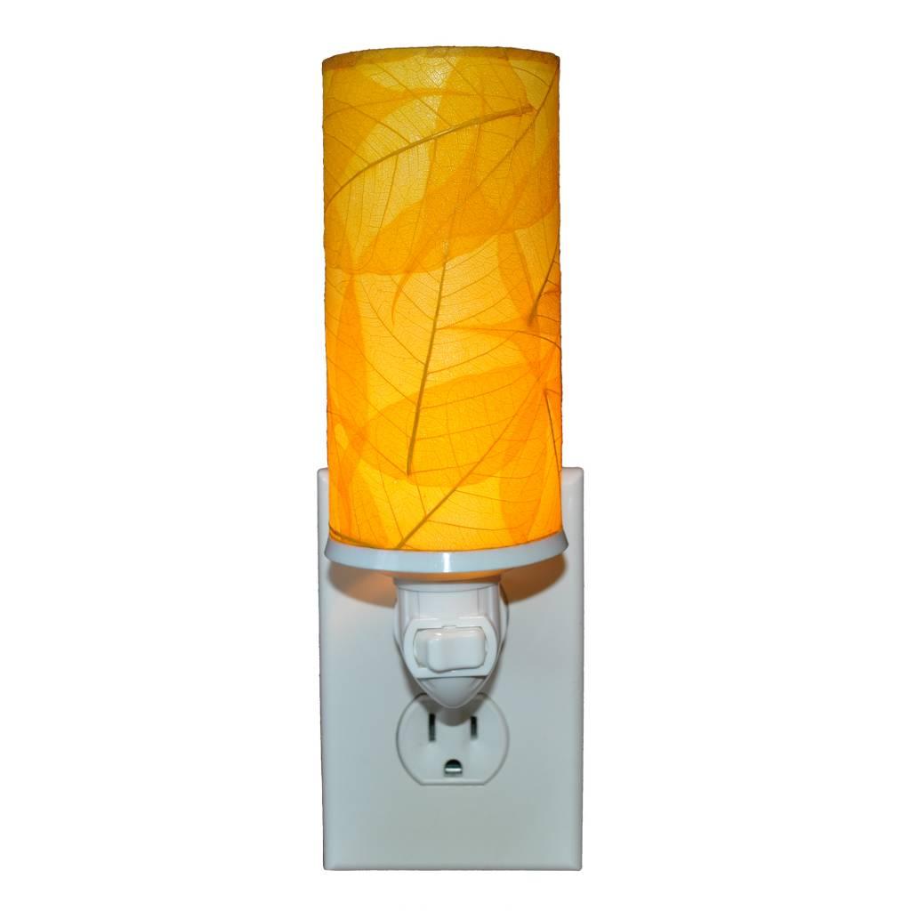 Eangee Cylinder Leaf Nightlight , Yellow