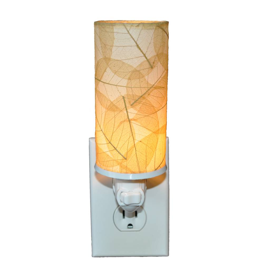 Eangee Cylinder Leaf Nightlight , Natural