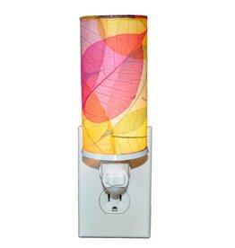 Eangee Cylinder Leaf Nightlight , Multi