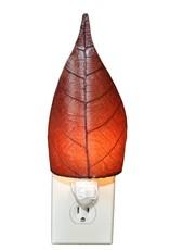 Eangee Single Leaf Nightlight, Burgundy