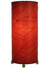 Eangee Cocoa Cylinder Lamp, Red