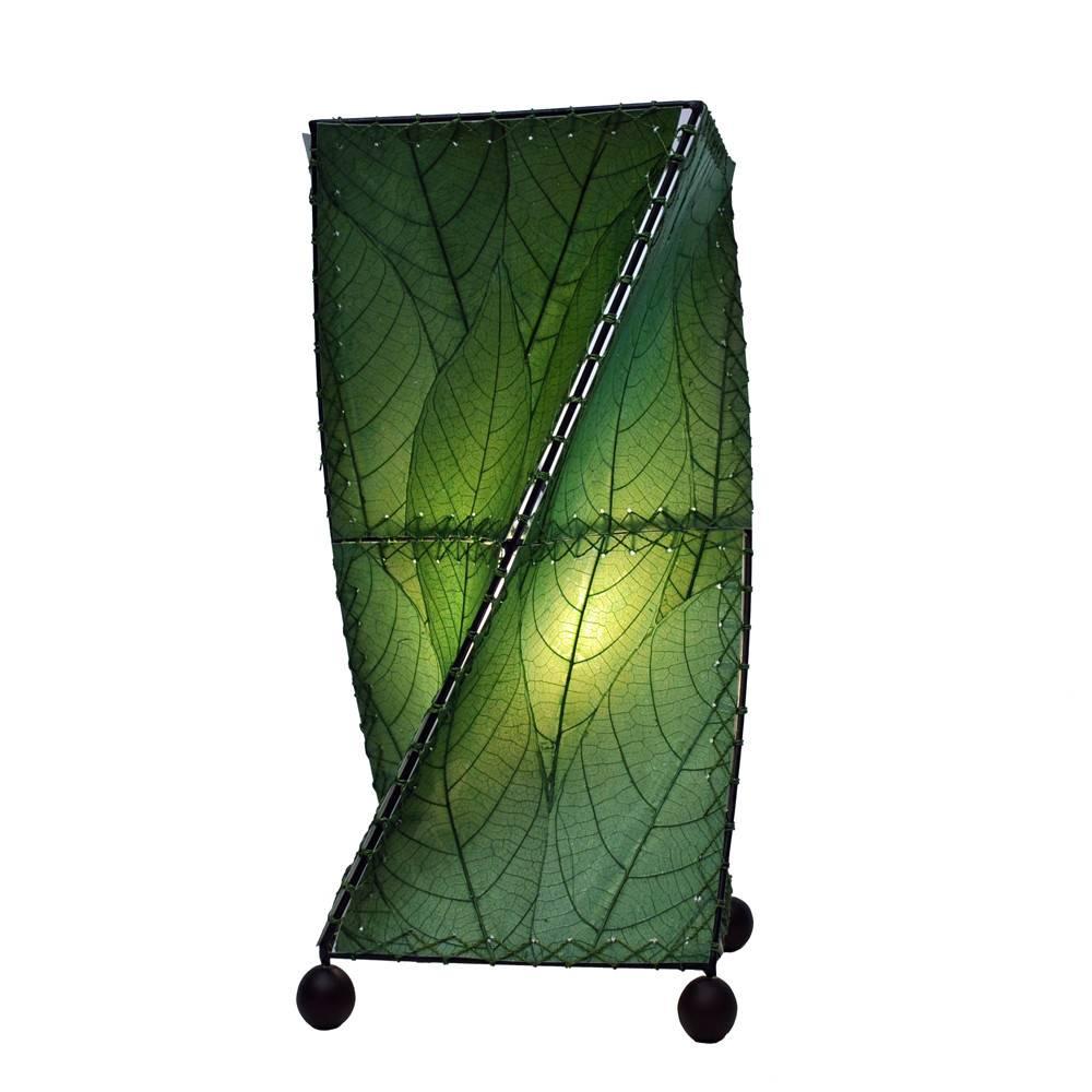 Eangee Twist Table Lamp, Green
