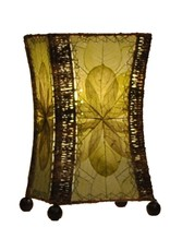 Eangee Hourglass Table Lamp, Green