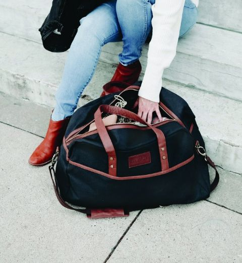 Maika Reclaimed Cotton Canvas Duffel Bag