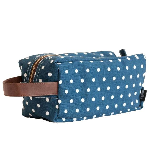Maika Reclaimed Cotton Canvas Dopp/Travel Case