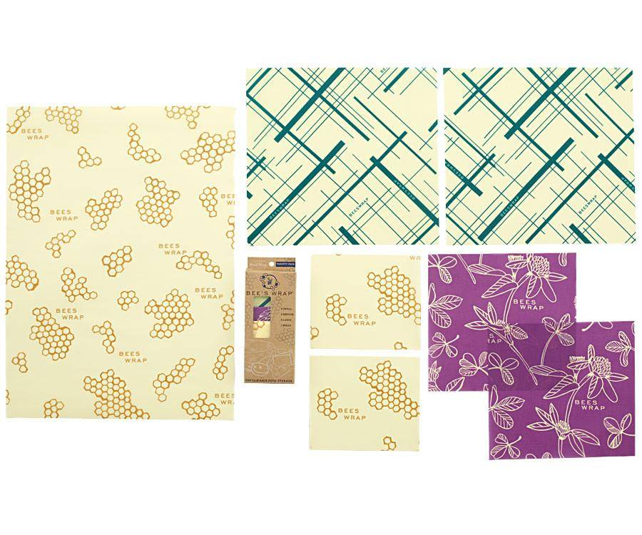 Beeswrap Variety Pack (2 Small, 2 Medium, 2 Large, 1 Bread)