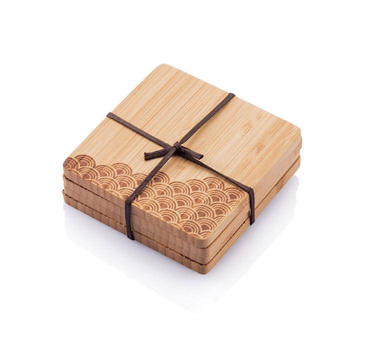 Bamboo Coasters- Set of 4
