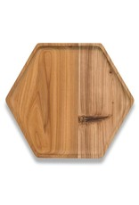 Cedar Wood Hex Tray- Large
