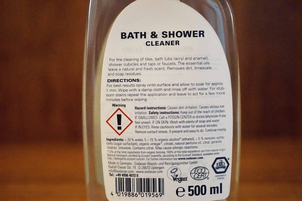 Sodasan Bath & Shower Cleaner