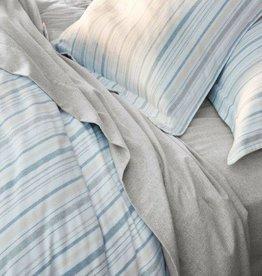 Cloud Brushed Flannel Duvet Cover- Heathered Stripe- King