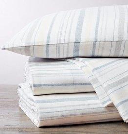 Cloud Brushed Flannel Sheet Set- Heathered Stripe- King