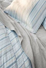 Cloud Brushed Flannel Duvet Cover- Heathered Stripe- Full/Queen