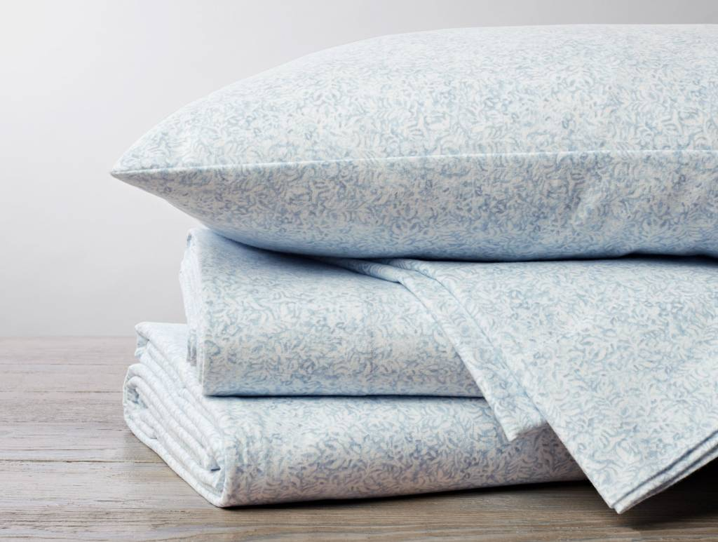 Cloud Brushed Flannel Sheet Set- Blue Forest- Twin
