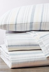 Cloud Brushed Flannel Sheet Set- Heathered Stripe- Queen