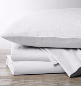 220 Percale Sheet Set-White, Queen