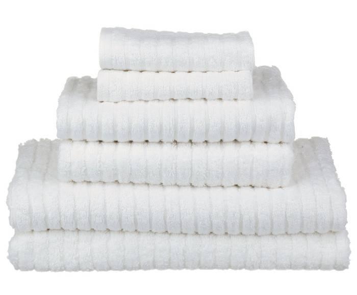 Glo Bath Towel, White