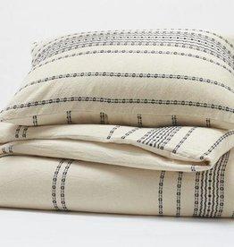 Ripple Stripe Duvet Cover, King Ivory & Black