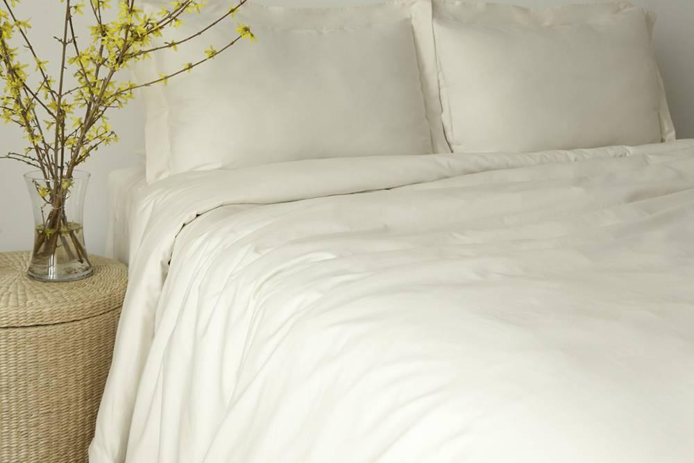 Glo Sateen Sheets (Natural), King Pillowcase Set