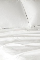 Glo Percale Sheets (White), King Fitted