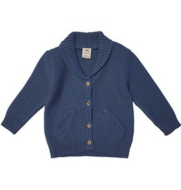 Tiny Twig Knitted Cardigan Sweater- Sapphire