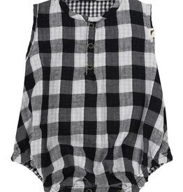 Turtledove London Check Bubble Romper- Reversible