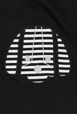 Turtledove London Black Sweater Cape with Dog Appliqué