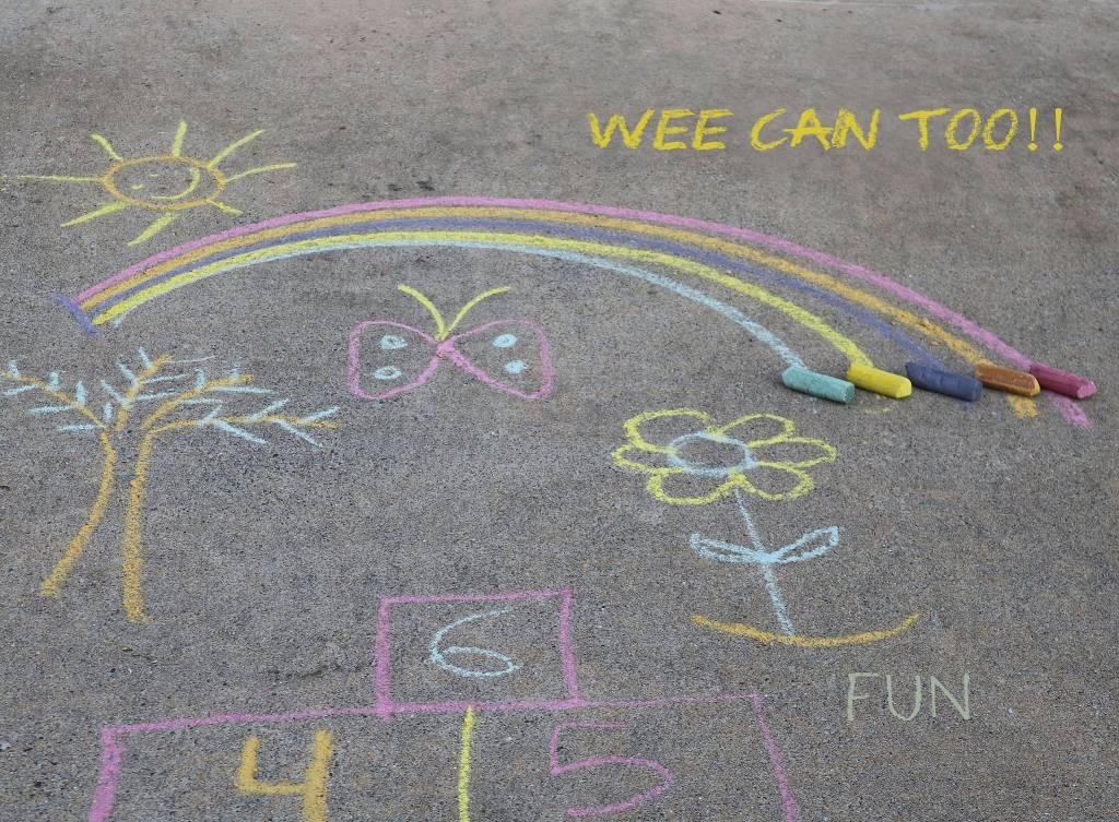 Sidewalk Veggie Chalk