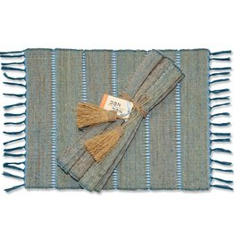 Vetiver Table Linens- Indigo Stripe