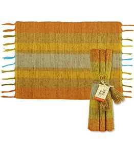 Vetiver Table Linens- Fiesta Citrus Stripe